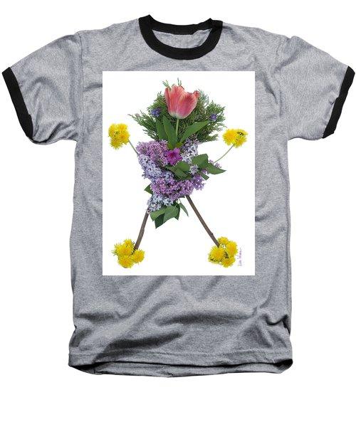 Baseball T-Shirt featuring the digital art Tulip Head by Lise Winne