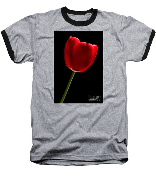 Baseball T-Shirt featuring the photograph Red Tulip No. 2 By Flower Photographer David Perry Lawrence by David Perry Lawrence