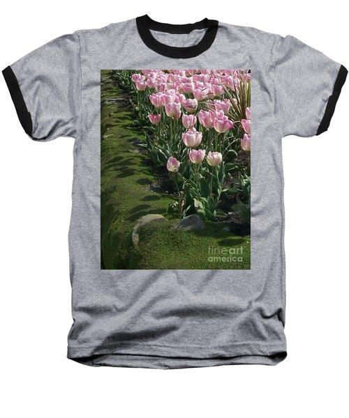 Baseball T-Shirt featuring the photograph Tulip Parade by Jolanta Anna Karolska