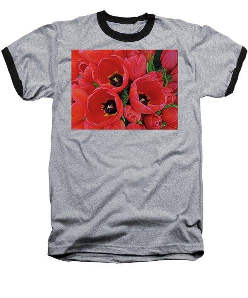 Baseball T-Shirt featuring the photograph Tulip Parade by Suzy Piatt