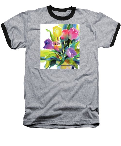 Tulip Pot Baseball T-Shirt