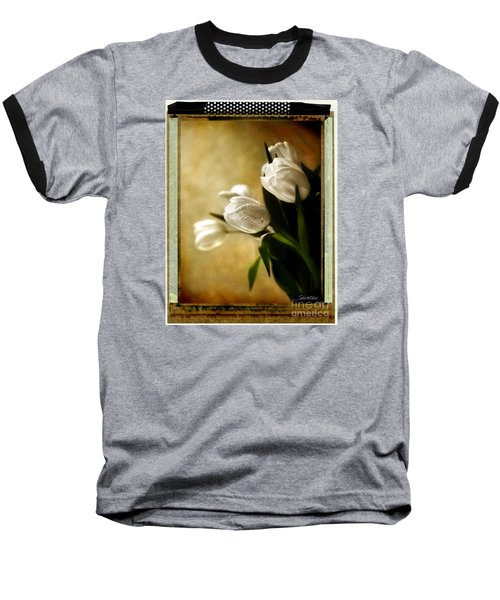 Baseball T-Shirt featuring the photograph Tulip Side Sepia by Linda Olsen