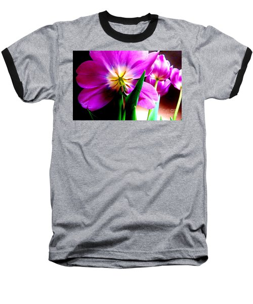 Tulip Time Baseball T-Shirt by Tim Townsend