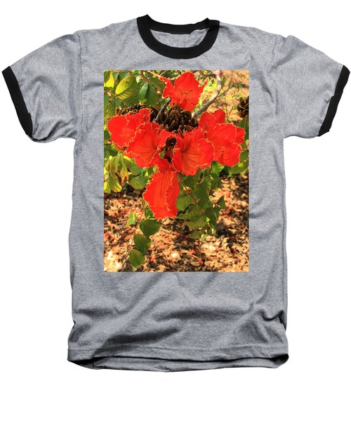 Tulip Tree Flowers Baseball T-Shirt
