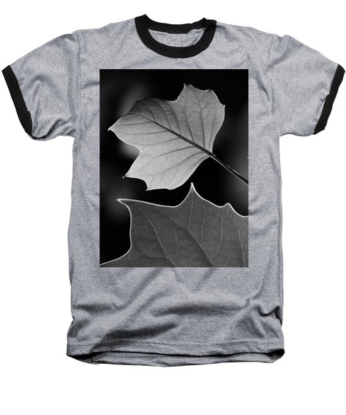Tulip Tree Leaves Competing For Light Baseball T-Shirt by Jane Ford
