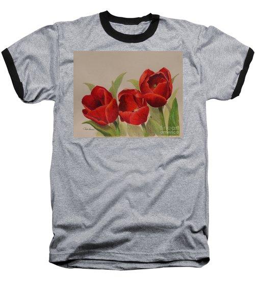 Tulip Trio Baseball T-Shirt