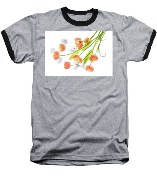 A Creative Presentation Of A Bouquet Of Tulips. Baseball T-Shirt