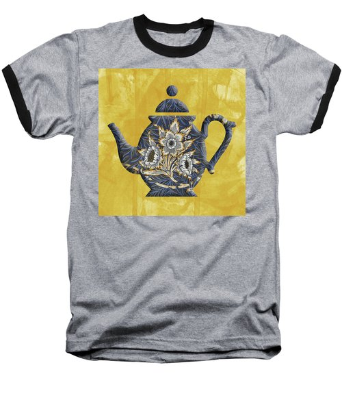 Tulips And Willow Pattern Teapot Baseball T-Shirt