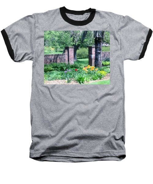 Tulips At Glen Magna Farms Baseball T-Shirt
