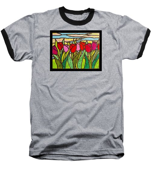 Tulips At Sunrise Baseball T-Shirt