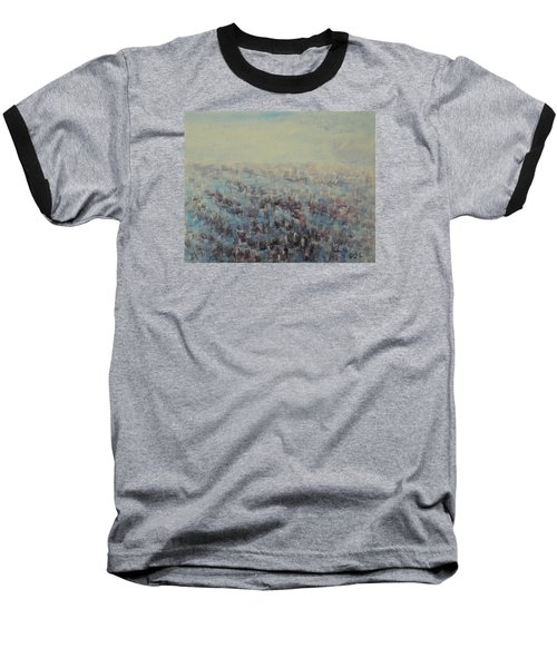 Baseball T-Shirt featuring the painting Tulips Dance Abstract 3 by Jane See