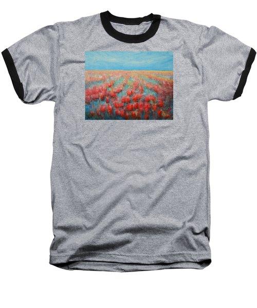 Tulips Dance Abstract 4 Baseball T-Shirt