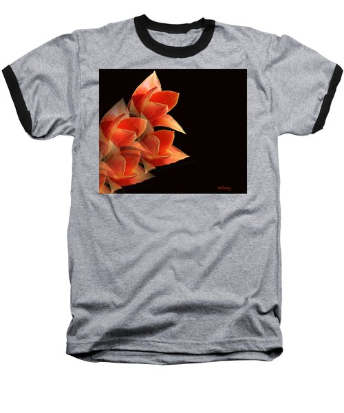 Tulips Dramatic Orange Montage Baseball T-Shirt