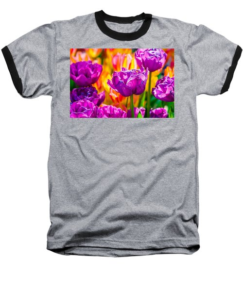 Baseball T-Shirt featuring the photograph Tulips Enchanting 41 by Alexander Senin