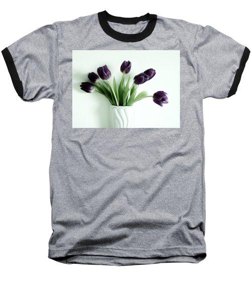 Tulips For You Baseball T-Shirt by Marsha Heiken