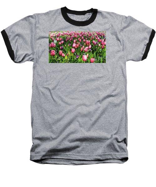 Tulips In Bloom Baseball T-Shirt