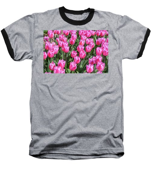 Baseball T-Shirt featuring the photograph Tulips In Pink Color by Patricia Hofmeester