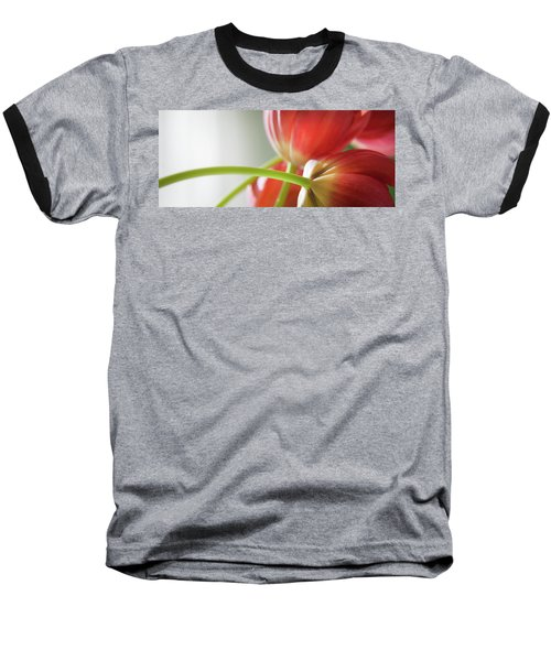Tulips In The Morning Baseball T-Shirt by Theresa Tahara