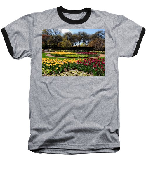 Baseball T-Shirt featuring the photograph Tulips In The Spring by Teresa Schomig