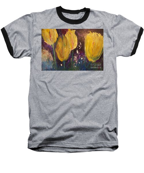 Tulips Baseball T-Shirt by Gallery Messina