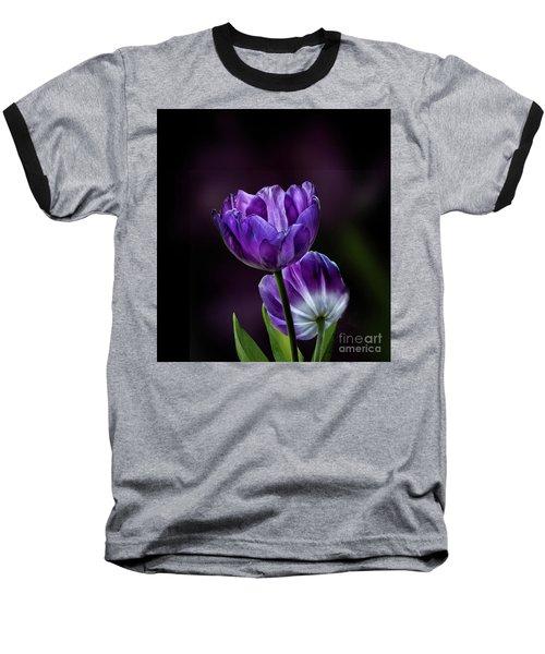 Tulips Baseball T-Shirt by Shirley Mangini