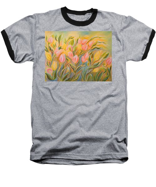 Tulips Baseball T-Shirt by Theresa Marie Johnson