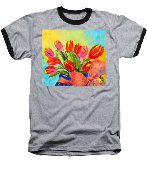 Tulips Tied Up Baseball T-Shirt
