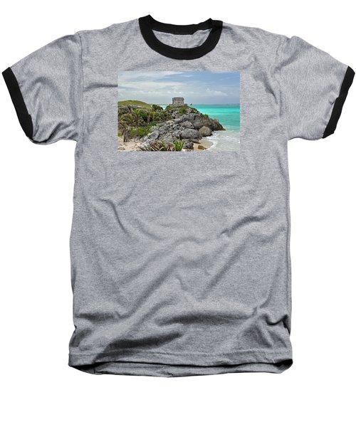 Tulum Mexico Baseball T-Shirt by Glenn Gordon
