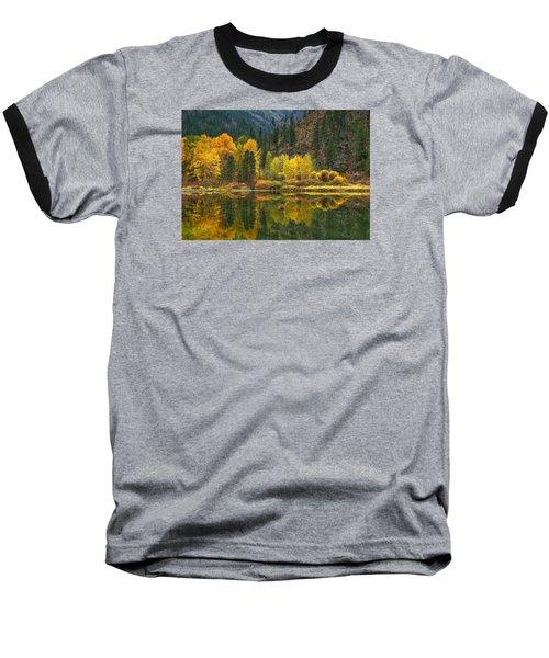 Tumwater Reflections Baseball T-Shirt by Lynn Hopwood