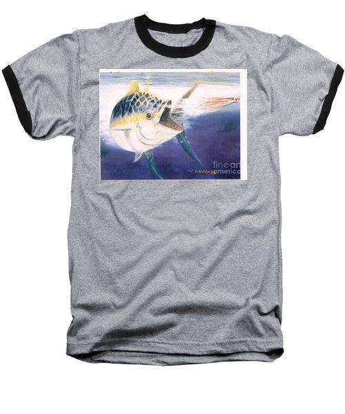 Tuna To The Lure Baseball T-Shirt by Bill Hubbard