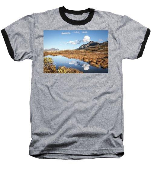 Tundra Pond Reflections In Fall Baseball T-Shirt