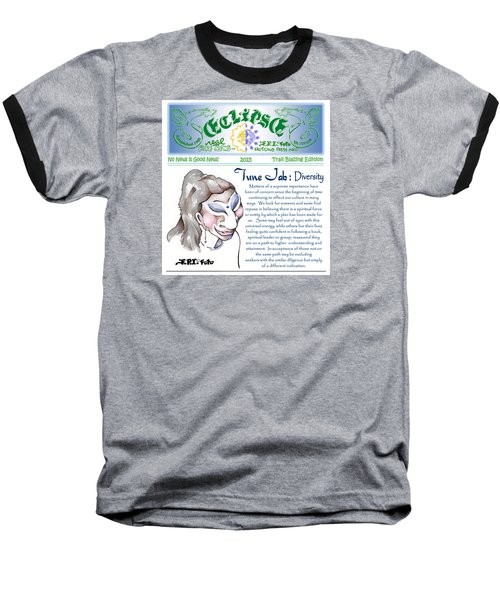 Baseball T-Shirt featuring the painting Real Fake News Spiritual Columnist 1 by Dawn Sperry