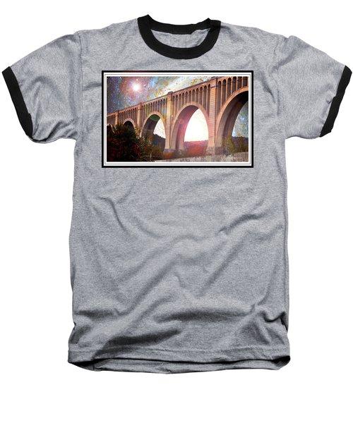 Tunkhannock Viaduct, Nicholson Bridge, Starry Night Fantasy Baseball T-Shirt