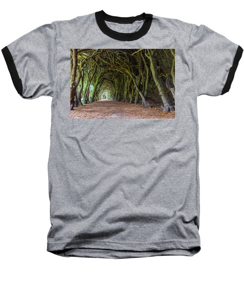 Tunnel Of Intertwined Yew Trees Baseball T-Shirt by Semmick Photo