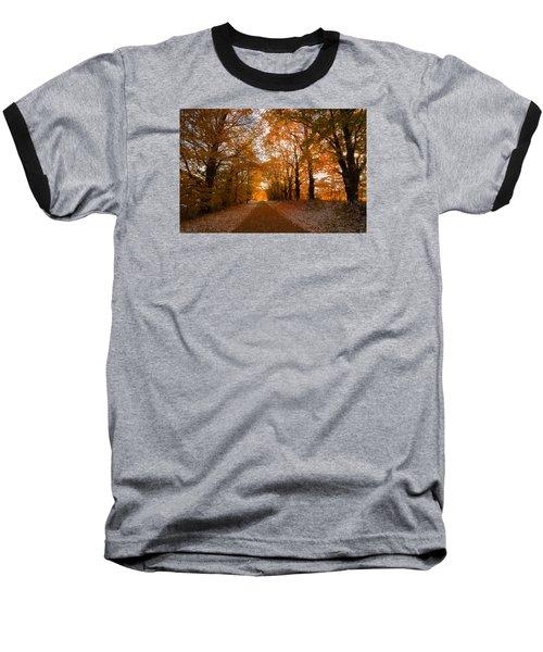Tunnel Through Morning Backlight Baseball T-Shirt