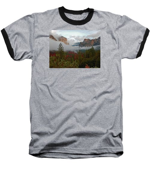Baseball T-Shirt featuring the photograph Tunnel View 12 2016 by Walter Fahmy