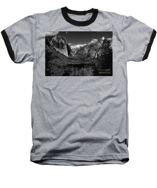 Tunnel View Black And White  Baseball T-Shirt