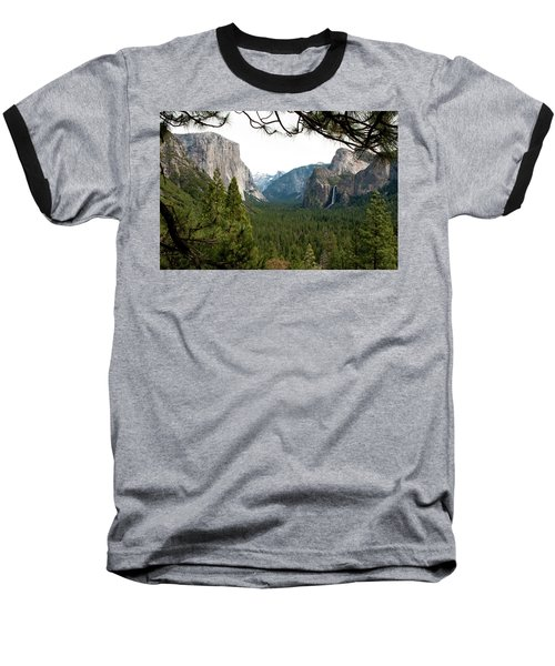 Tunnel View Framed Baseball T-Shirt