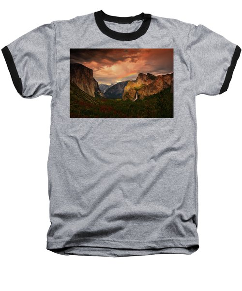 Tunnel View Rainbow Baseball T-Shirt