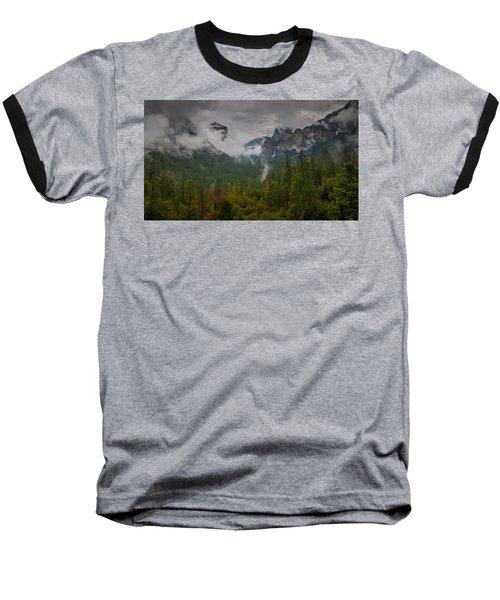 Tunnel View Baseball T-Shirt by Ralph Vazquez