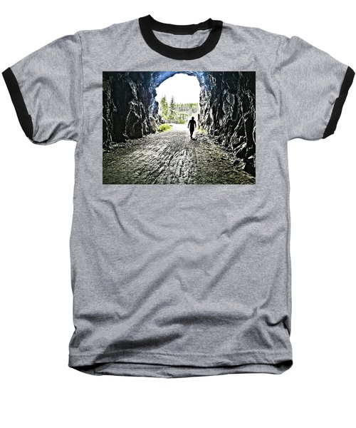 Baseball T-Shirt featuring the photograph Tunnel Vision by Nadine Dennis