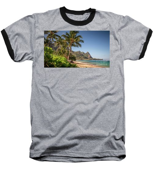 Tunnels Beach Haena Kauai Hawaii Bali Hai Baseball T-Shirt