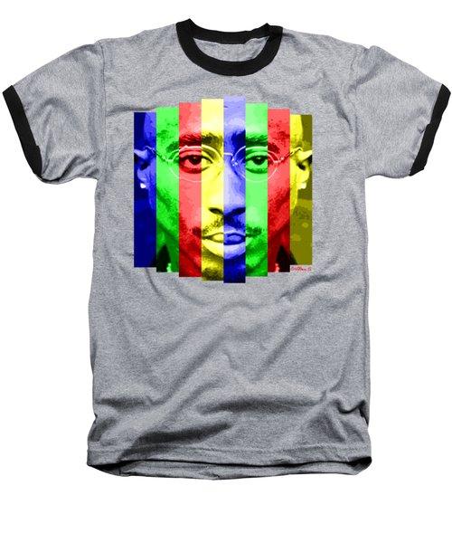 Tupac Stripes  Baseball T-Shirt