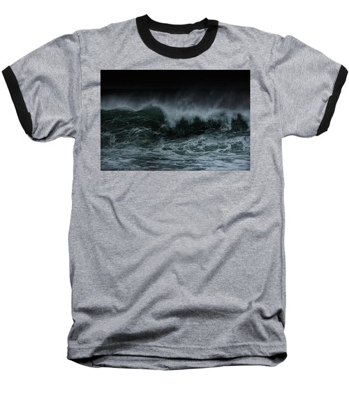 Turbulence Baseball T-Shirt by Edgar Laureano
