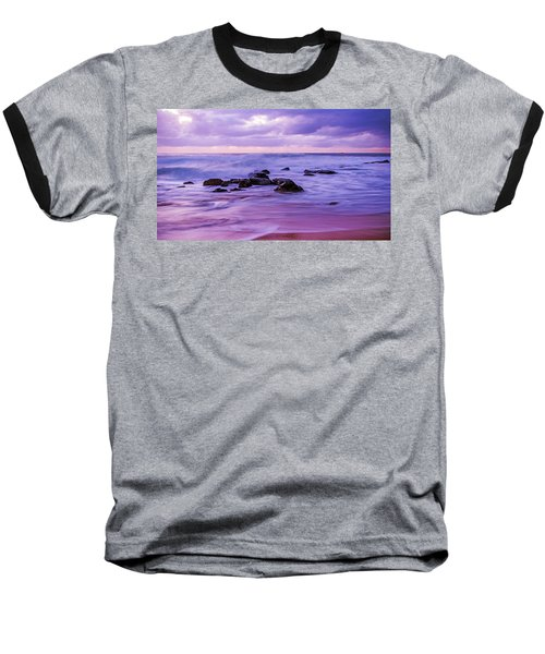 Turbulent Daybreak Seascape Baseball T-Shirt