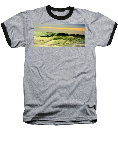 Turbulent Ocean Swell Baseball T-Shirt