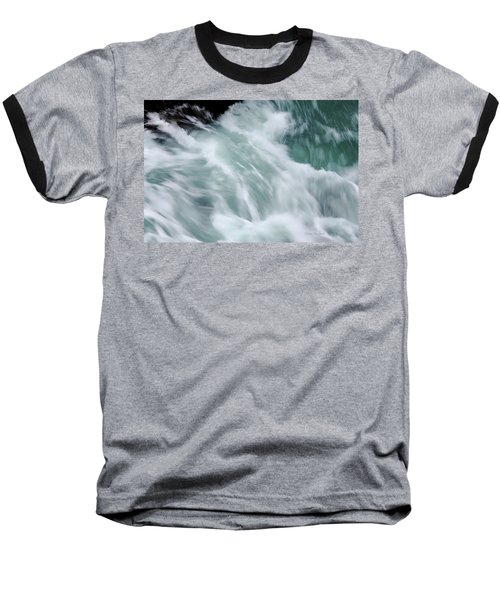 Turbulent Seas Baseball T-Shirt by Donna Blackhall