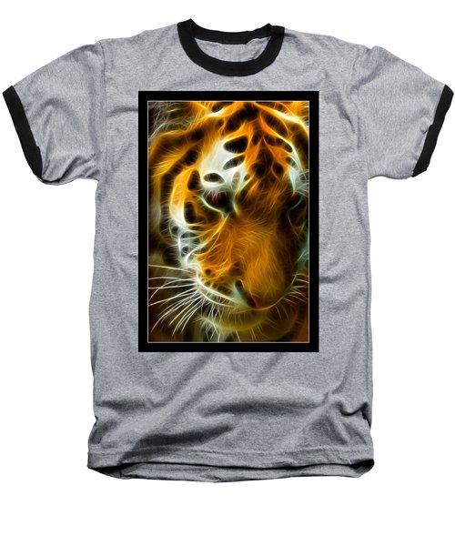 Turbulent Tiger Baseball T-Shirt