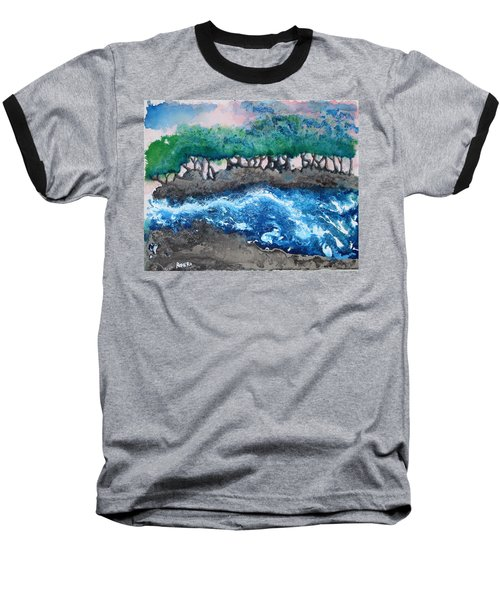 Baseball T-Shirt featuring the painting Turbulent Waters by Antonio Romero