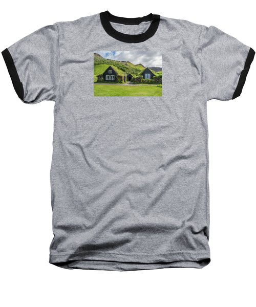 Turf Roof Houses And Shed, Skogar, Iceland Baseball T-Shirt